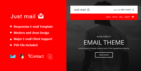 Just mail - Responsive E-mail  + Online Access  - Email Templates Marketing