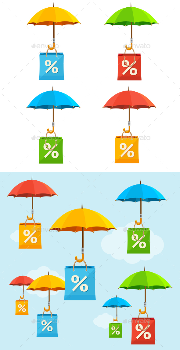 Umbrella Sale Concept