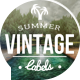 Summer Vintage Labels - VideoHive Item for Sale