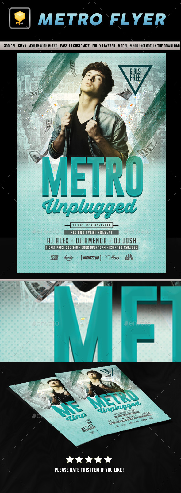 Metro Music Flyer - Clubs & Parties Events