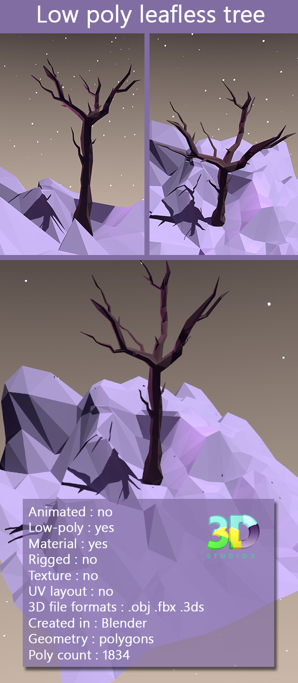 Low Poly Leafless Tree
