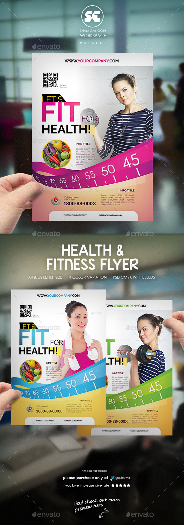 Health & Fitness Flyer / Magazine Ads - Sports Events