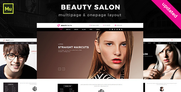 Beauty Salon Muse Template