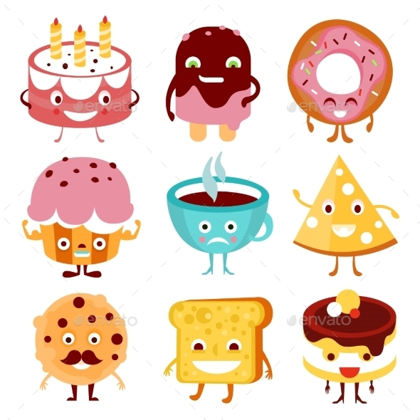 Cartoon Food and Drink - Birthdays Seasons/Holidays