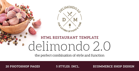 Delimondo 2.0 – Restaurant Template