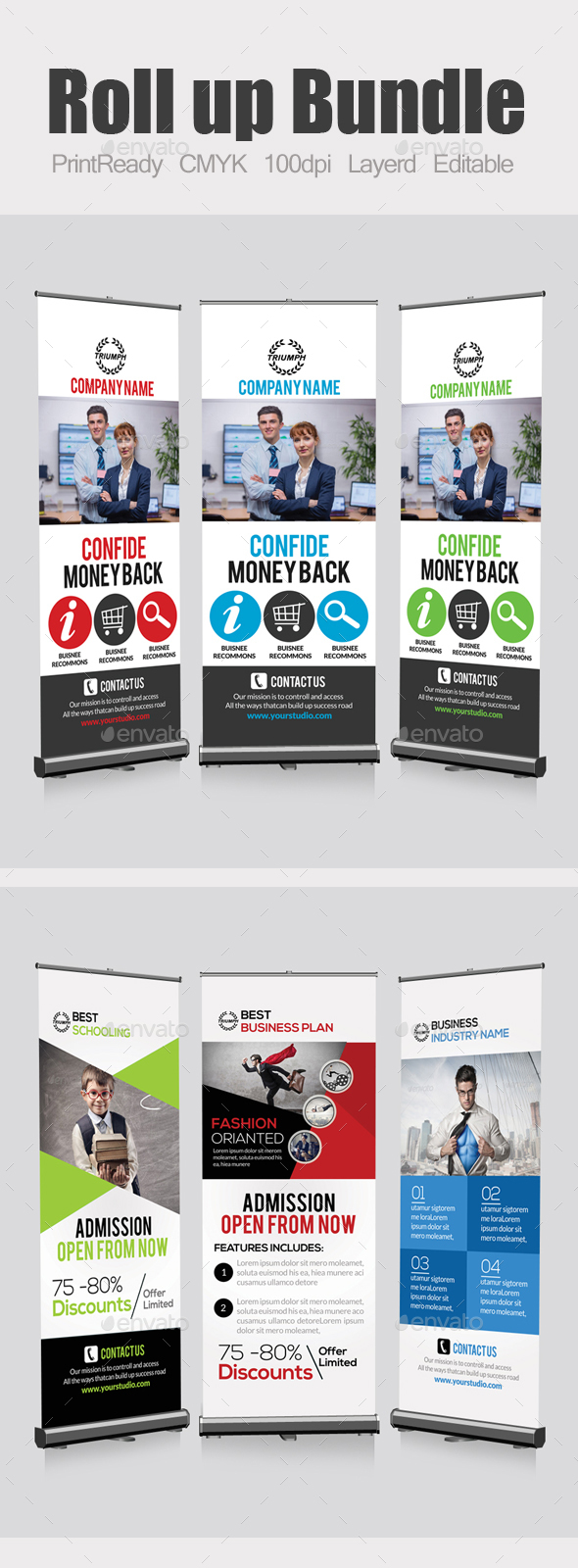 Business Roll Up Banners Bundle