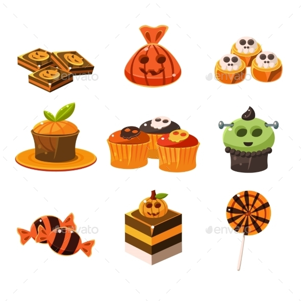 Colorful Halloween Sweets  - Halloween Seasons/Holidays