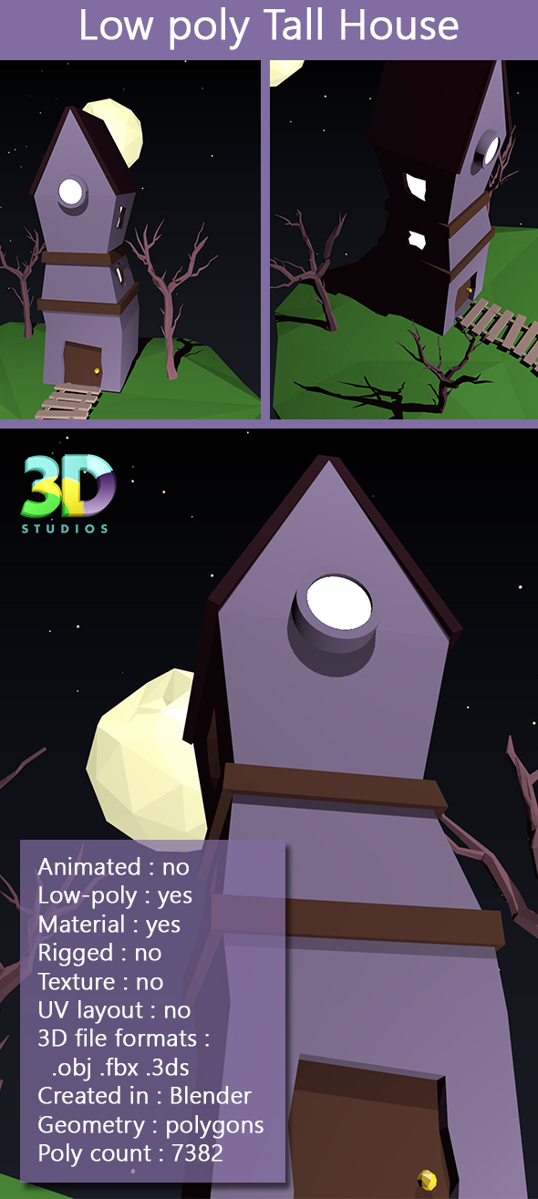 Low Poly Tall House