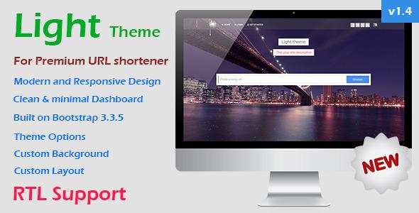 Light Theme for Premium URL Shortener - CodeCanyon Item for Sale