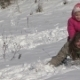 Girl Riding A Mother With A Snow Slide - VideoHive Item for Sale