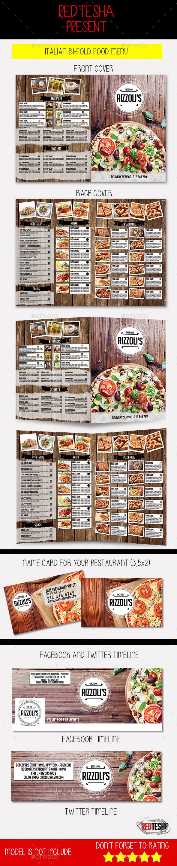 Italian Food Bi-Fold Menu - Food Menus Print Templates