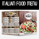 Italian Food Bi-Fold Menu - GraphicRiver Item for Sale