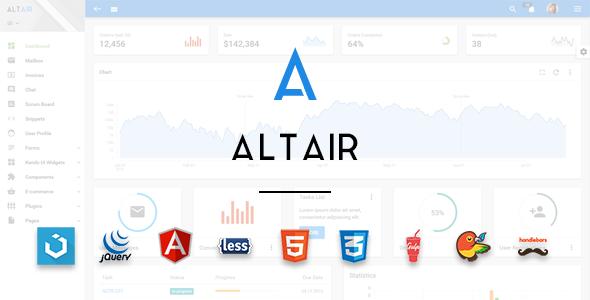 Altair Admin Material Design UIkit Template - Admin Templates Site Templates