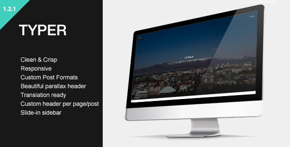 Typer - Striking Blogging Theme - Personal Blog / Magazine