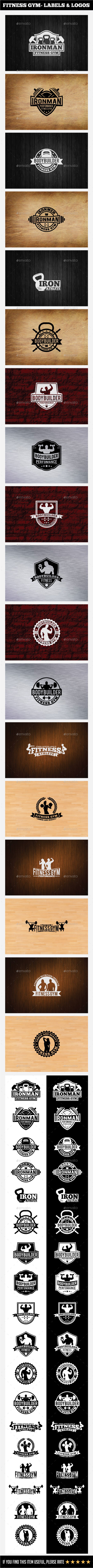 Fitness Gym Labels & Logos