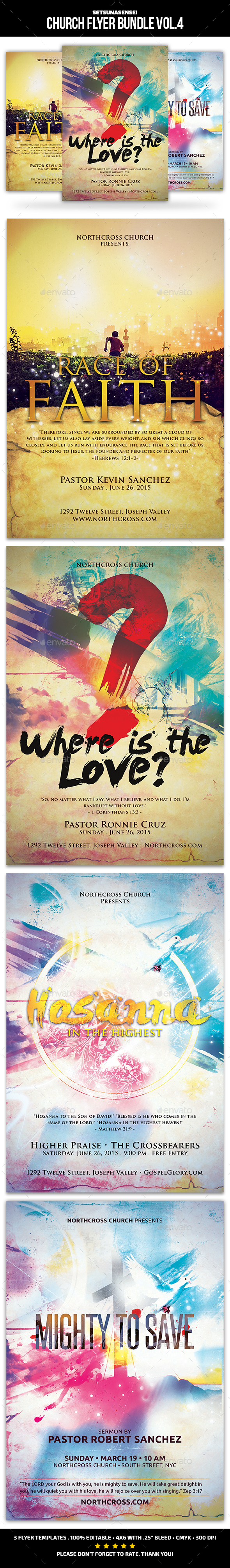 Church Flyer Bundle Vol. 5 - Church Flyers