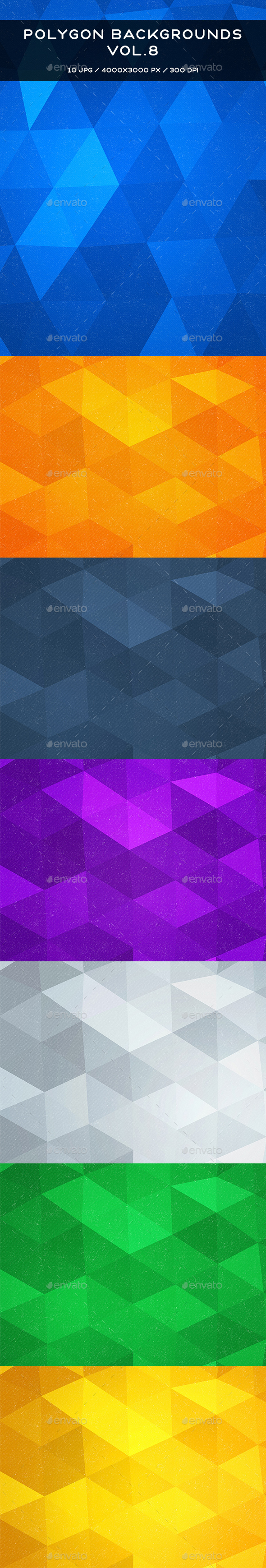Polygon Backgrounds Vol.8 - Abstract Backgrounds
