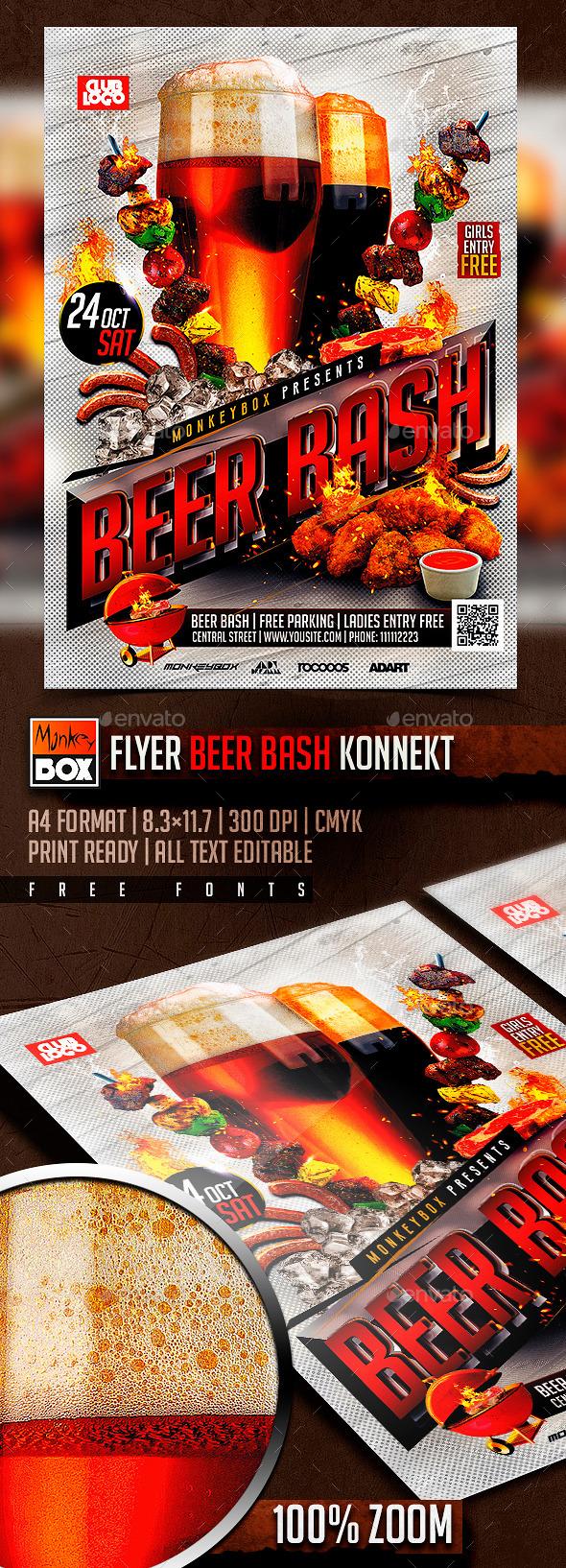 Flyer Beer Bash Konnekt - Clubs & Parties Events
