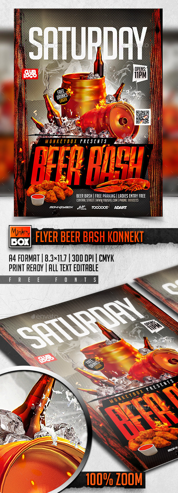 Flyer Beer Bash Konnekt
