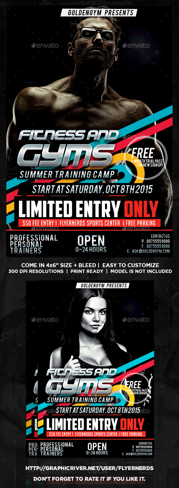 Fitness Training Center Sports Flyer - Sports Events