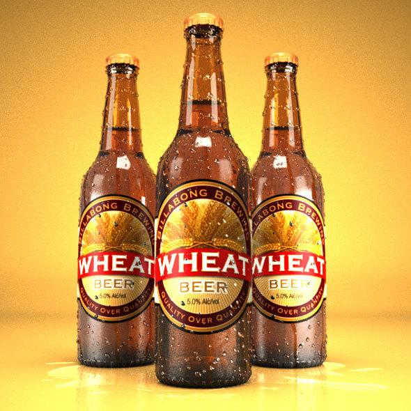 Realistic beer bottle