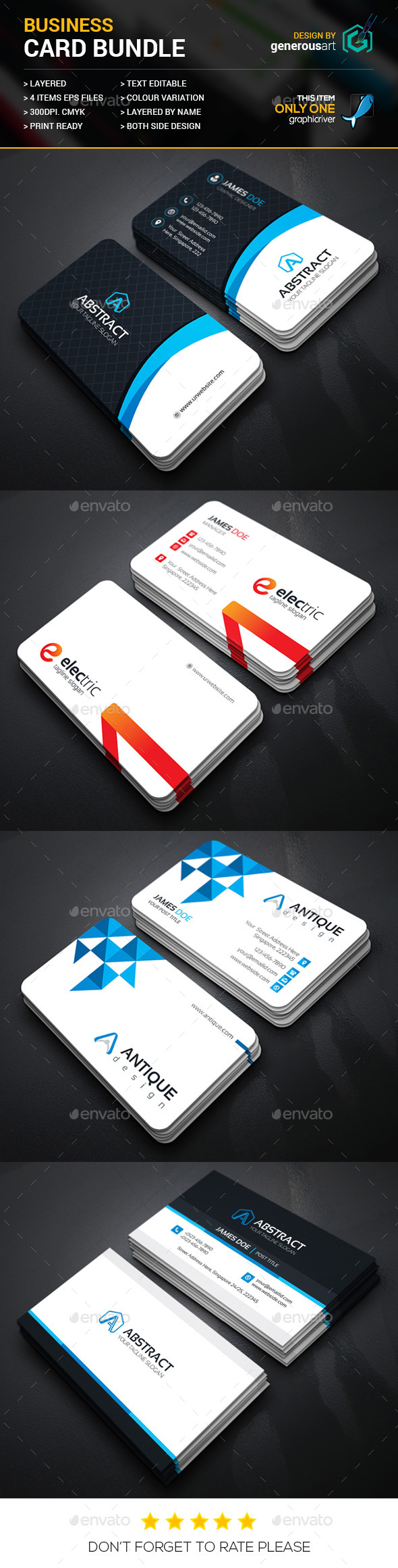 Business Card Bundle 4 in 1 29