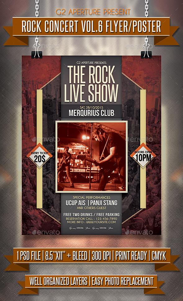 Rock Concert Flyer / Poster Vol.6 - Events Flyers
