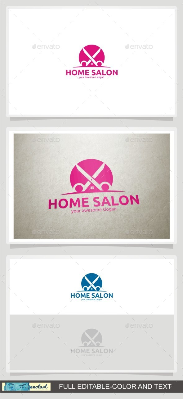 Home Salon - Buildings Logo Templates