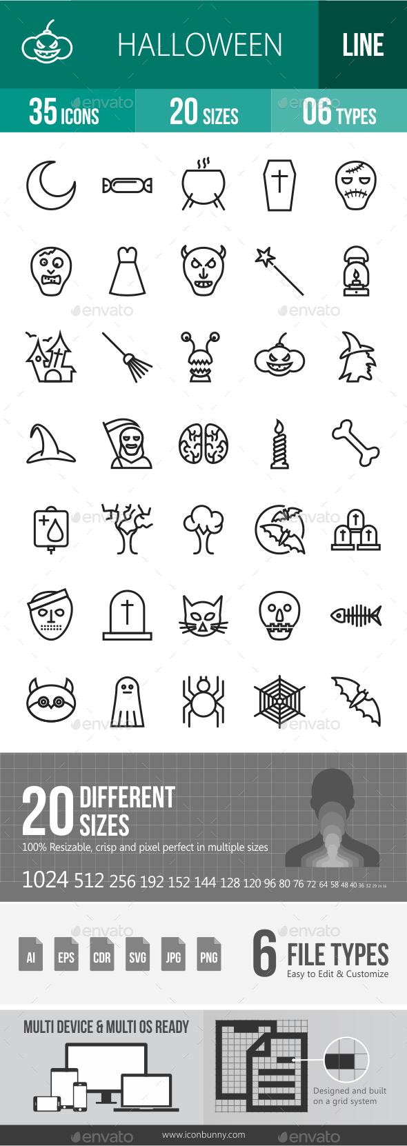 Halloween Line Icons - Icons