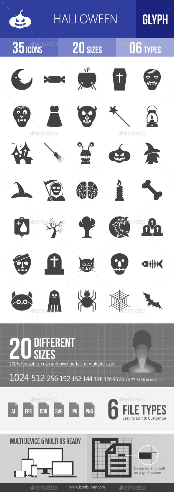 Halloween Glyph Icons