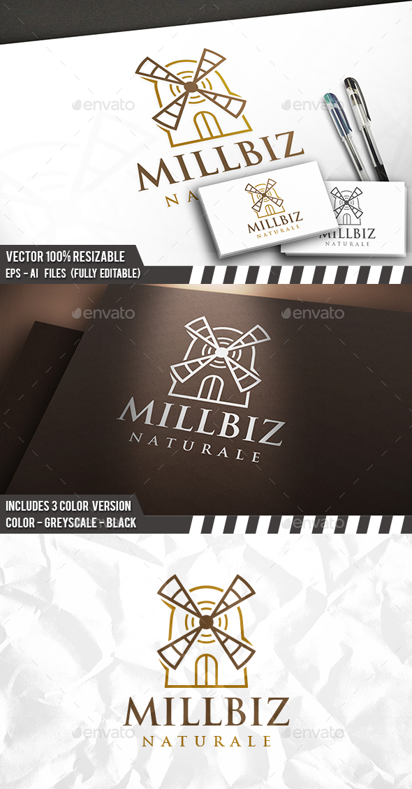 Mill Logo - Buildings Logo Templates