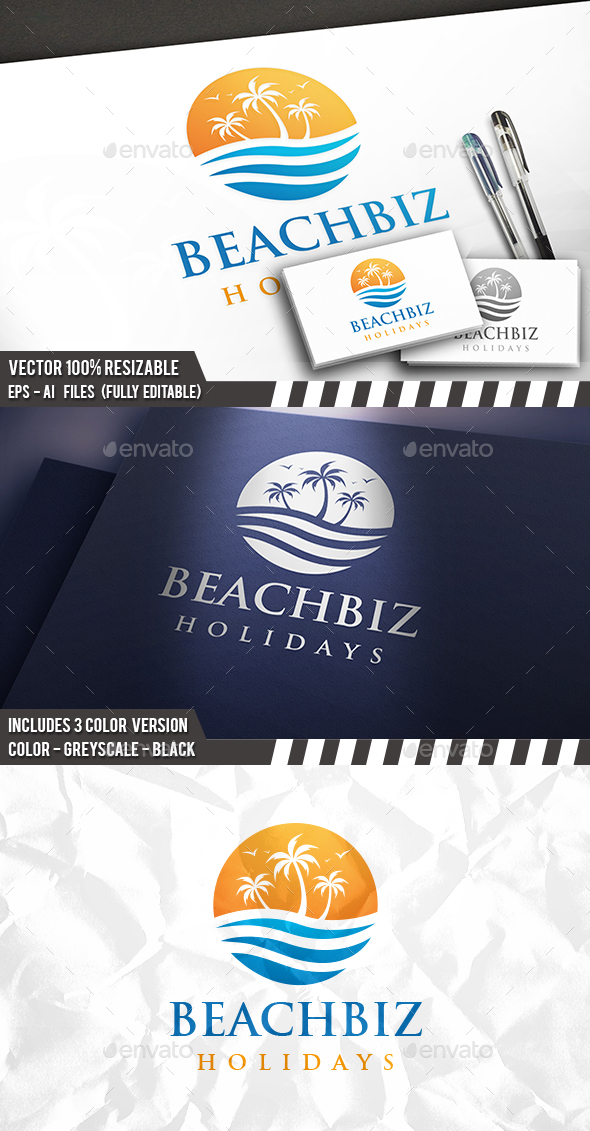 Beach Business Logo - Nature Logo Templates