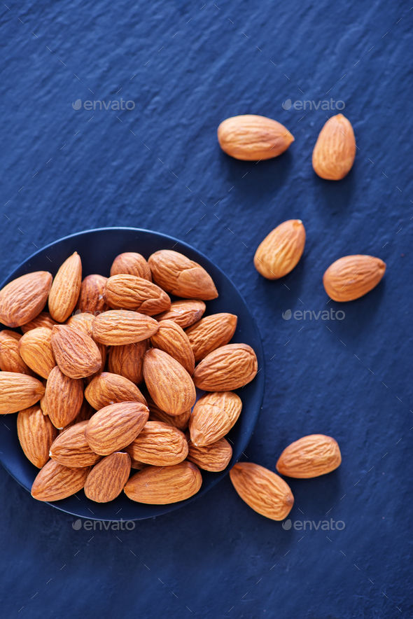 almond without shell - Stock Photo - Images