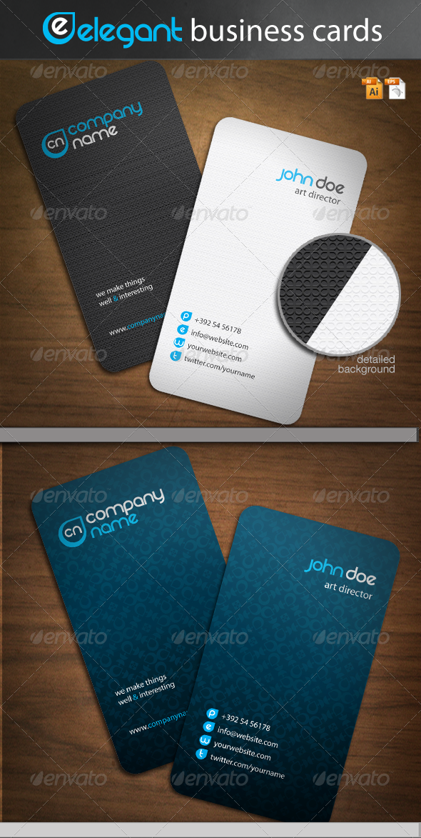 Elegant Business Cards - Corporate Business Cards