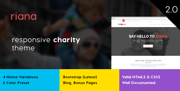 Riana – Charity HTML Template