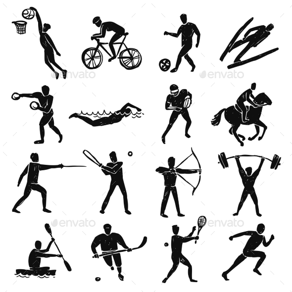 Sport Sketch People Set - Sports/Activity Conceptual