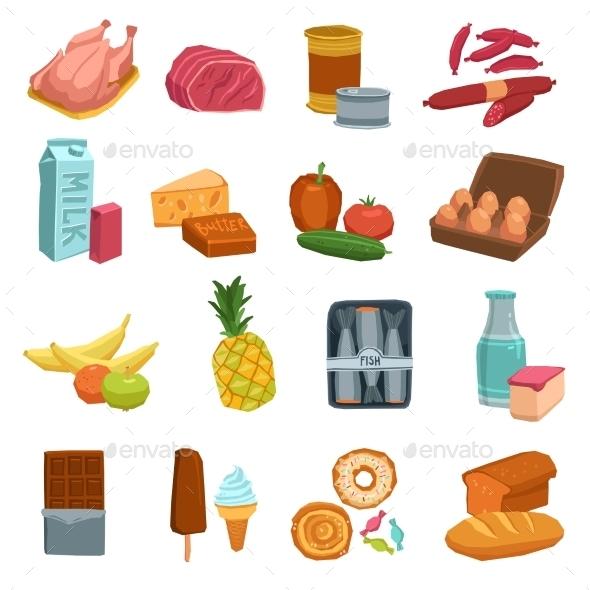 Supermarket Food Set - Food Objects