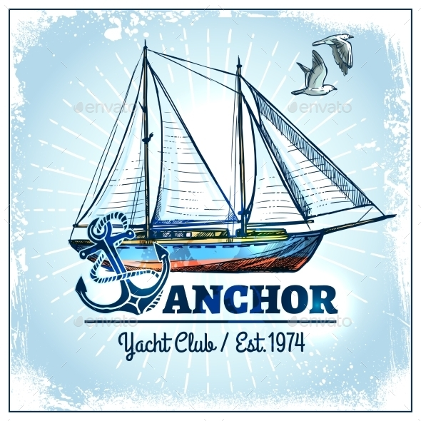 Sail Ship Poster - Miscellaneous Vectors