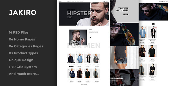 Jakiro – Fashion PSD Template