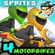 Racing Motorbike 2D Game Character Sprites - GraphicRiver Item for Sale