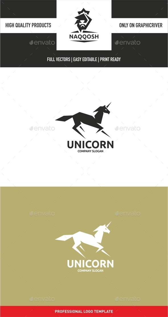 Unicorn - Animals Logo Templates