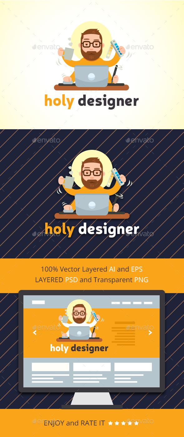 Holy Designer - Humans Logo Templates