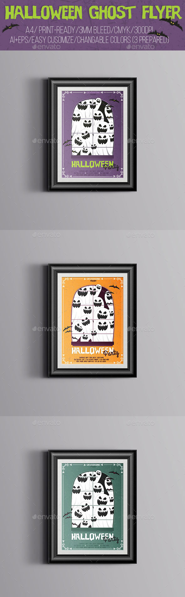 Halloween Ghost Flyer - Flyers Print Templates