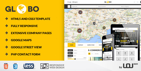 Globo - Directory & Listings HTML Template - Miscellaneous Site Templates