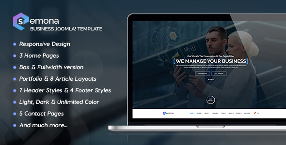 Semona – Business Joomla Template