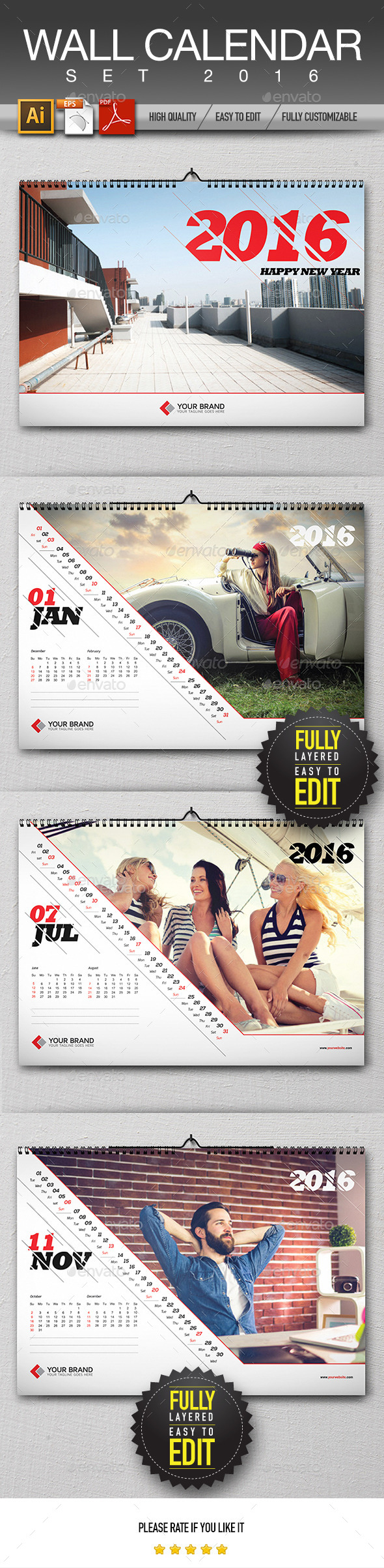 Wall Calendar Design 2016 - Calendars Stationery