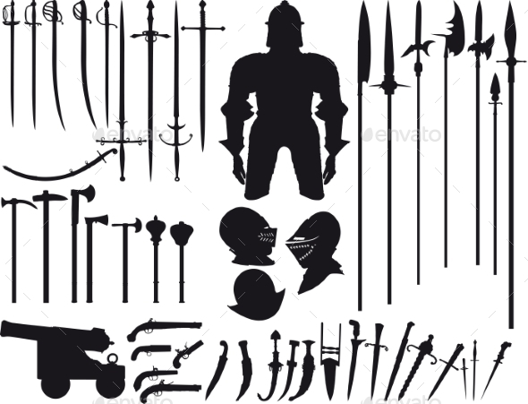 Set of Medieval Weapons - Decorative Symbols Decorative
