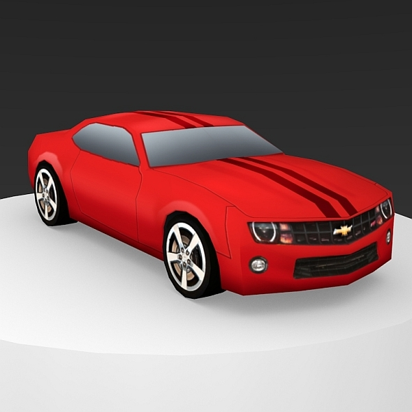 Chevrolet Camaro Low-Poly - 3DOcean Item for Sale