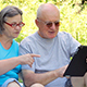Senior Couple with Digital Tablet Pc - VideoHive Item for Sale
