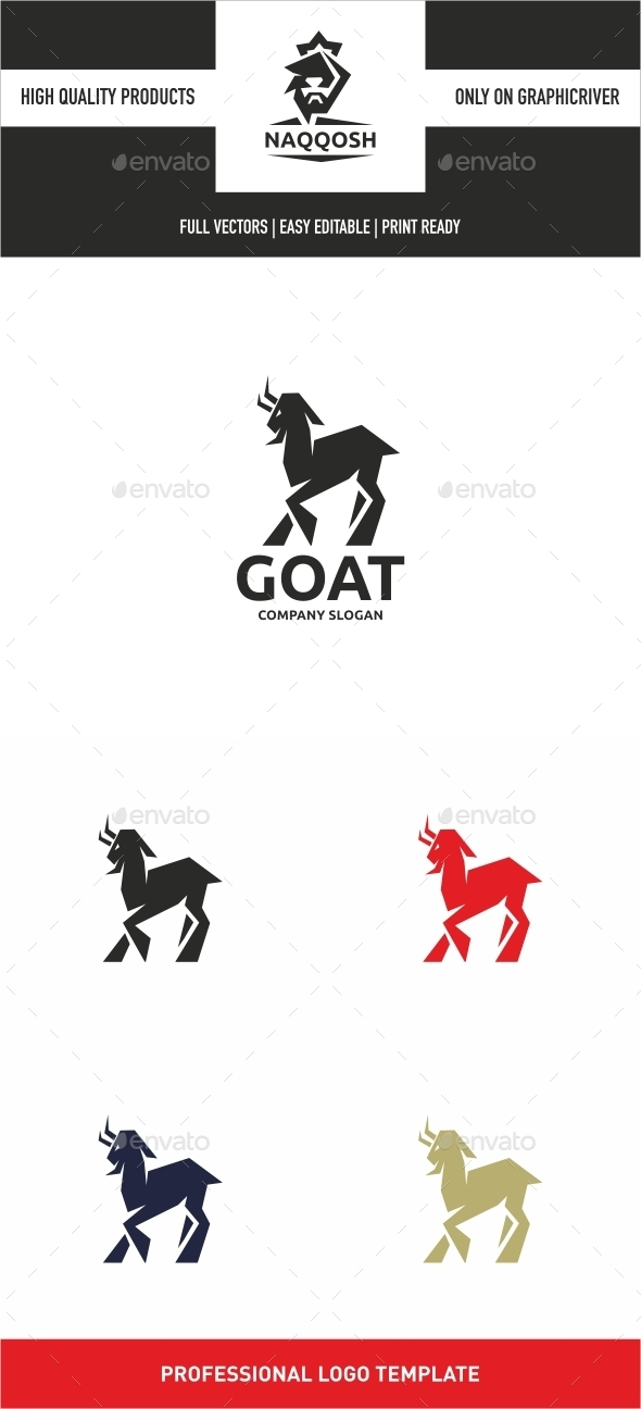 Goat Logo - Animals Logo Templates